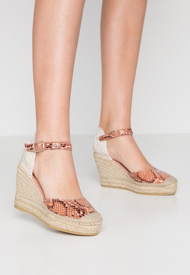 SERPIENTE - High heeled sandals - coral