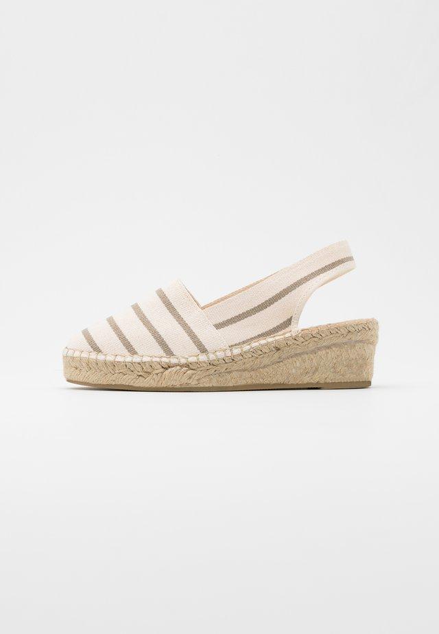 Loafers - marinera crudo/tosta