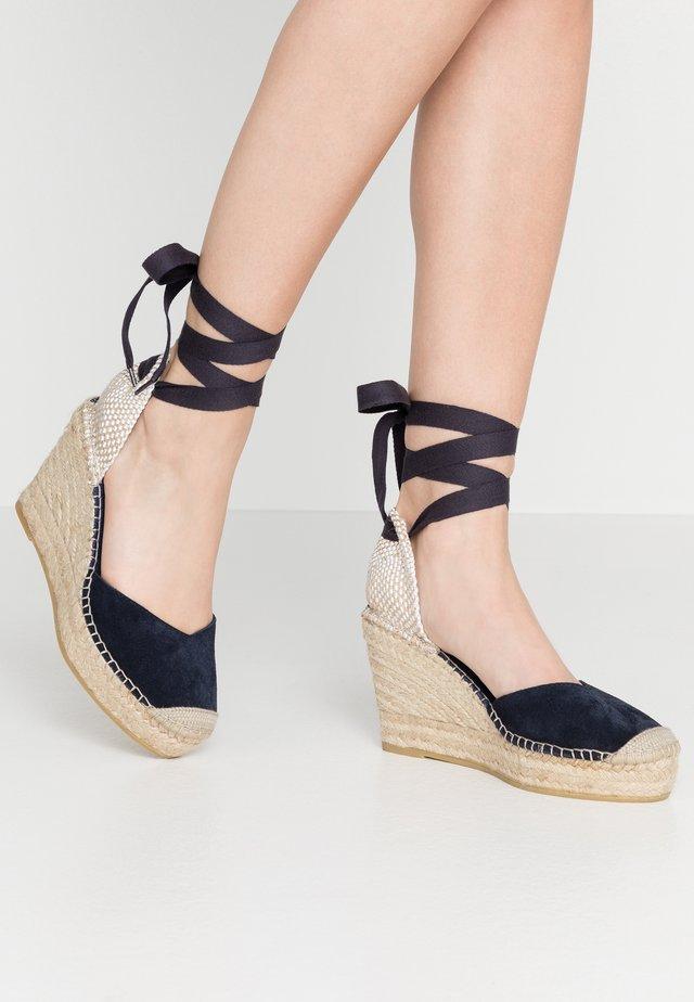 Sandalen met hoge hak - marino