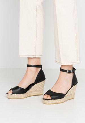 NATI - Sandály na vysokém podpatku - black