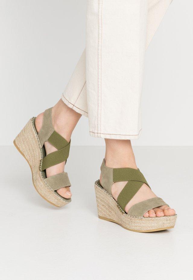 Espadrille - kaki