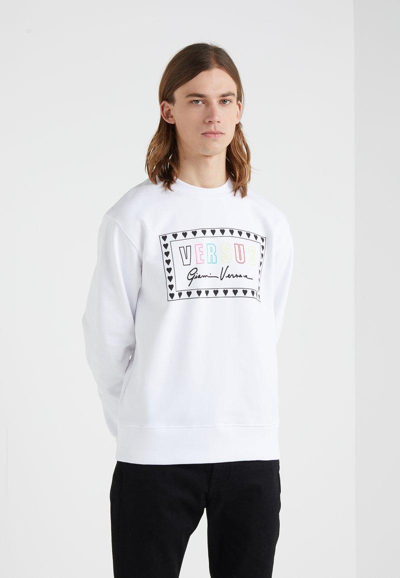 Versus Versace - SPORTIVO FELPA REGULAR FIT UOMO - Sweater - optical white