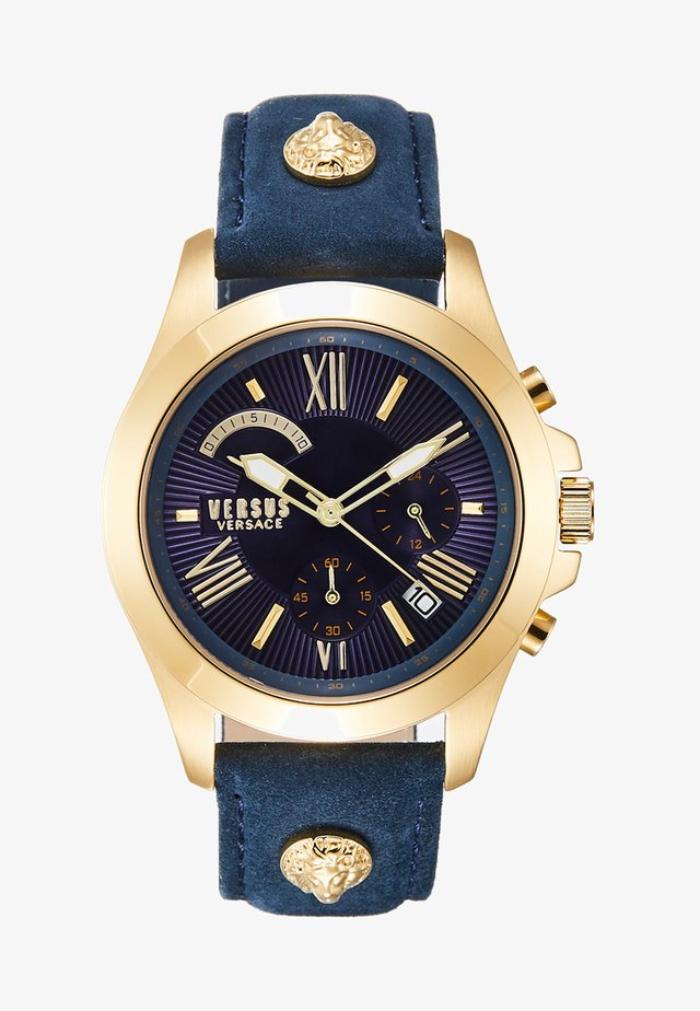LION EXTENSION - Chronograph watch - gold-coloured/blue