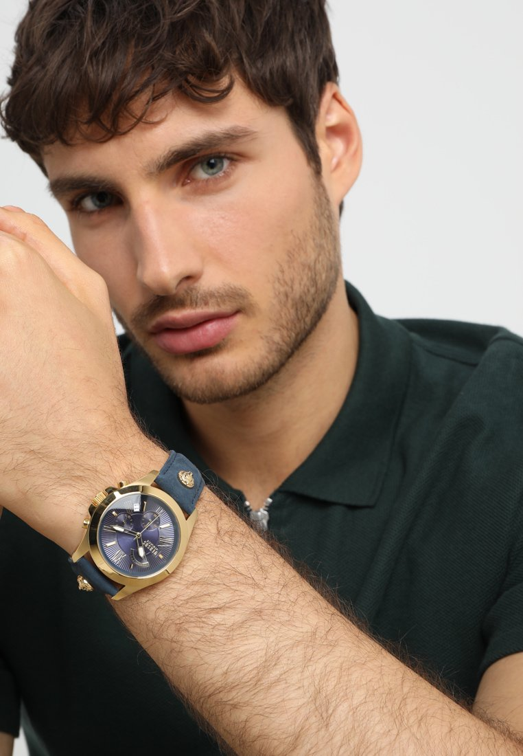 Versus Versace - LION EXTENSION - Montre à aiguilles - gold-coloured/blue