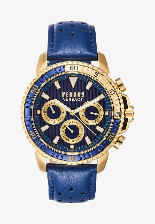 ABERDEEN - Chronograph watch - gold-coloured/blue