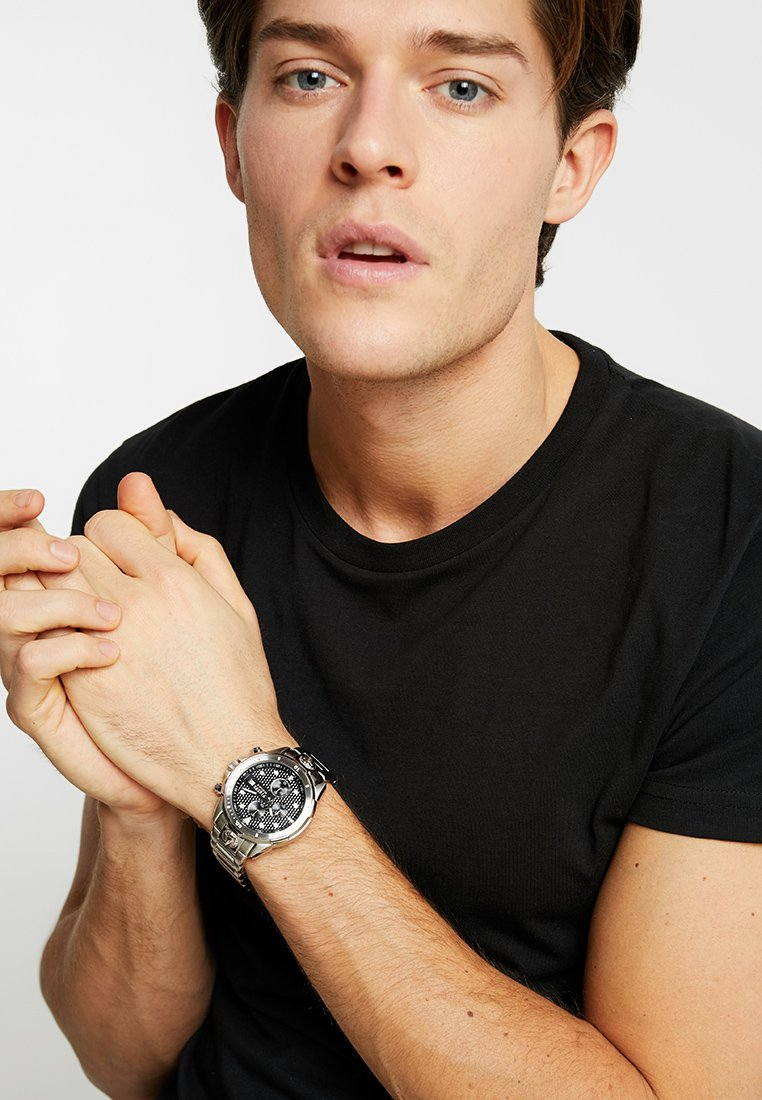 Versus Versace - ARRONDISSEMENT - Chronograph watch - silver-coloured/black