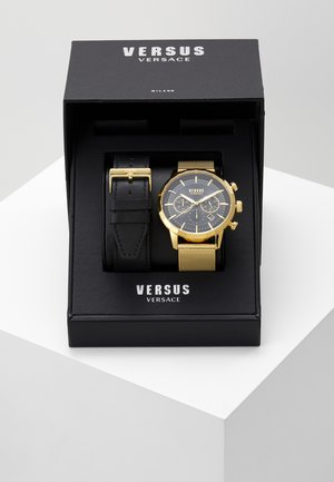 EUGENE SET - Montre à aiguilles - gold-coloured/black