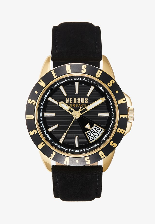 ARTHUR - Montre - black, gold-coloured