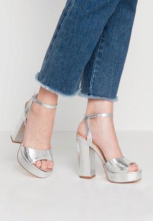 VMASTER - High heeled sandals - silver