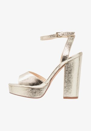 VMASTER - Sandaler med høye hæler - pale gold