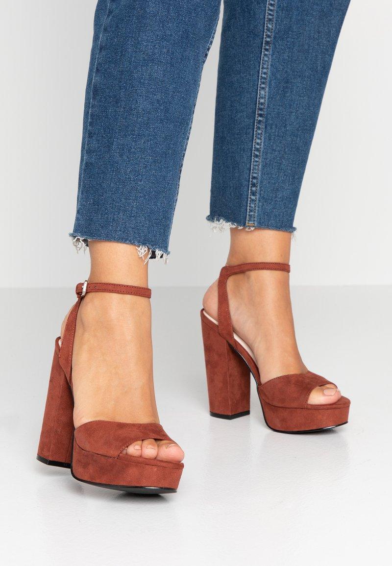 Vero Moda - VMCLOVER  - High heeled sandals - mahogany