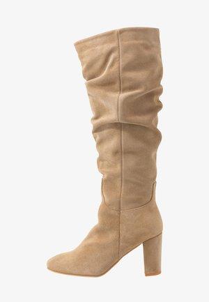 VMBIA BOOT - Vysoká obuv - beige