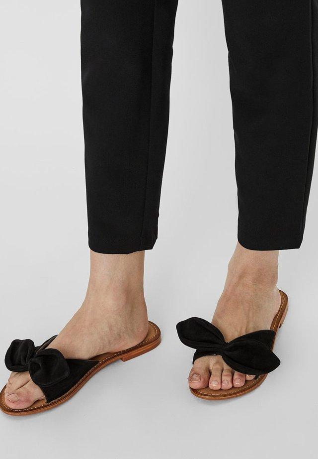SANDALEN LEDER - Pantolette flach - black