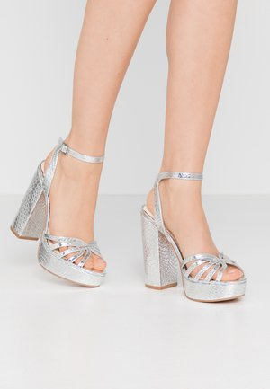 VMTHEA - Sandalen met hoge hak - silver