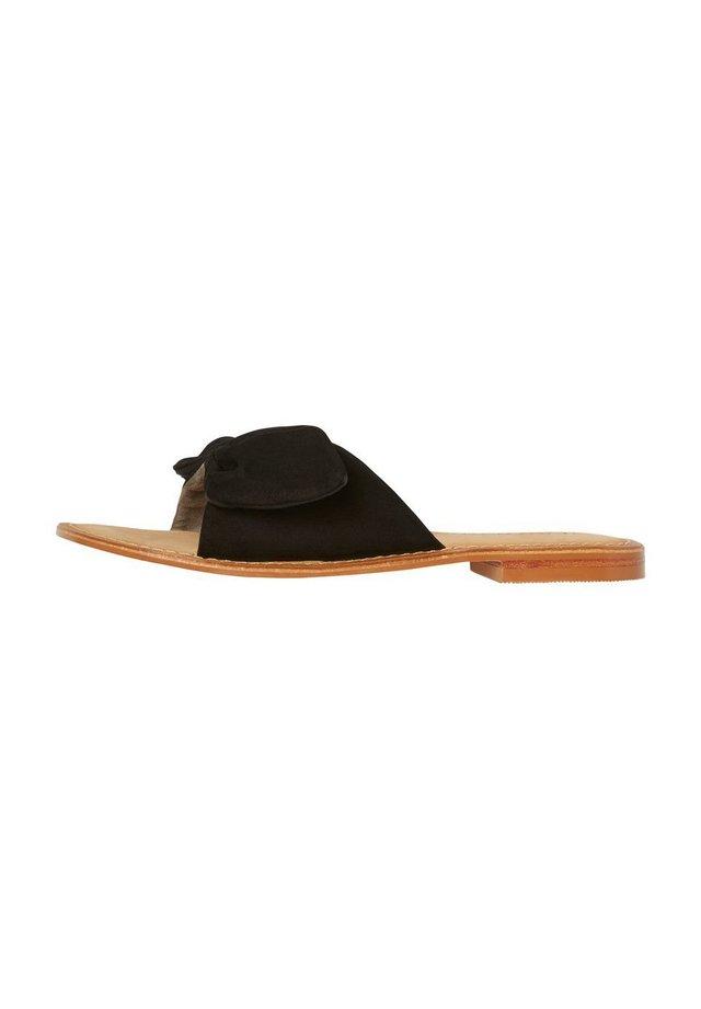 VERO MODA SANDALEN LEDER - Mules - black