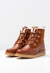 Vero Moda - VMANE - Lace-up ankle boots - cognac - 4
