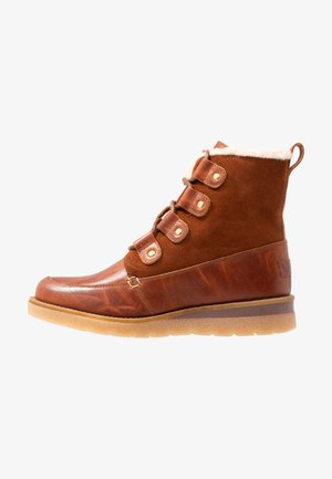 VMANE - Lace-up ankle boots - cognac