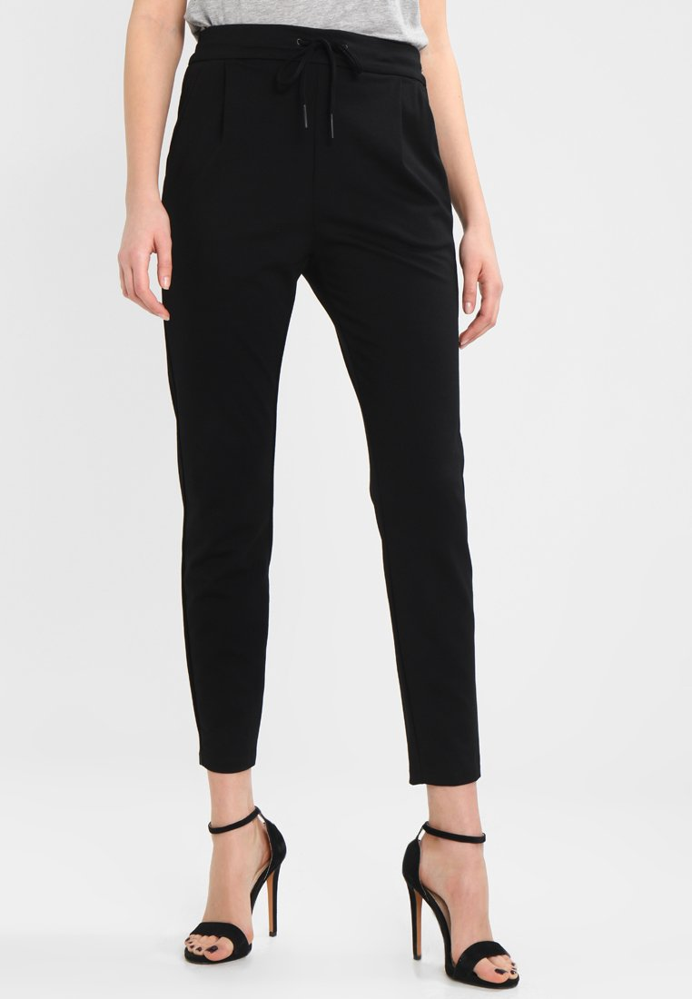 Vero Moda - VMEVA LOOSE STRING PANTS - Jogginghose - black