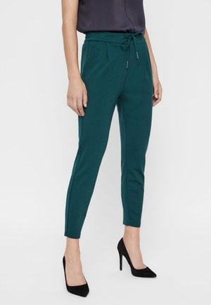 VMEVA MR LOOSE STRING PANT COLOR - Trousers - evergreen