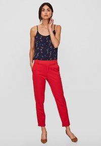 Vero Moda - VMMAYA - Trousers - red - 1
