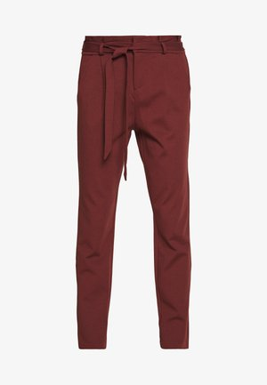 VMEVA LOOSE PAPERBAG PANT - Pantaloni - sable