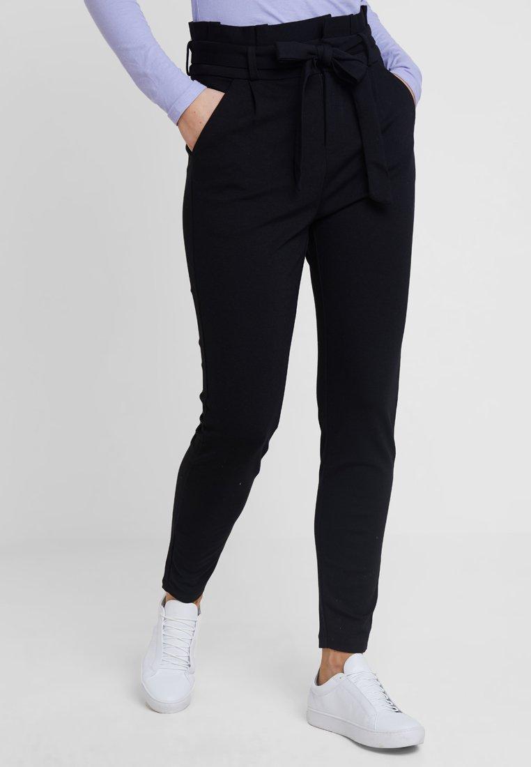 Vero Moda - VMEVA PAPERBAG PANT - Tygbyxor - black