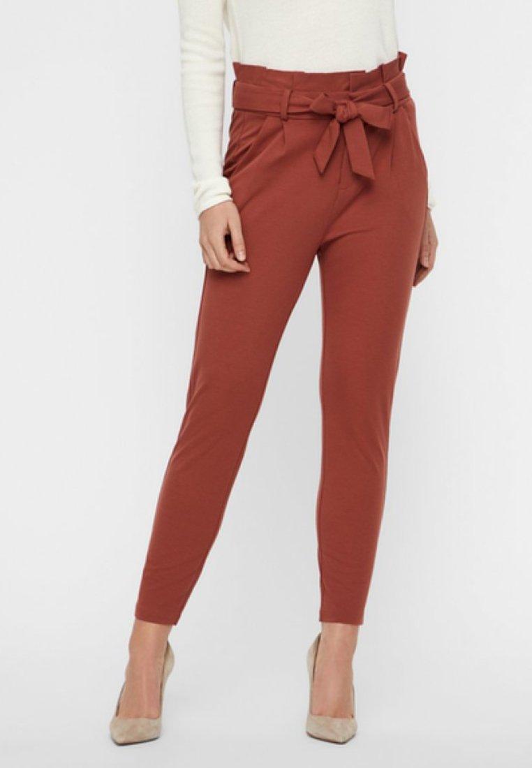 Vero Moda - PAPERBAG  - Trousers - brown