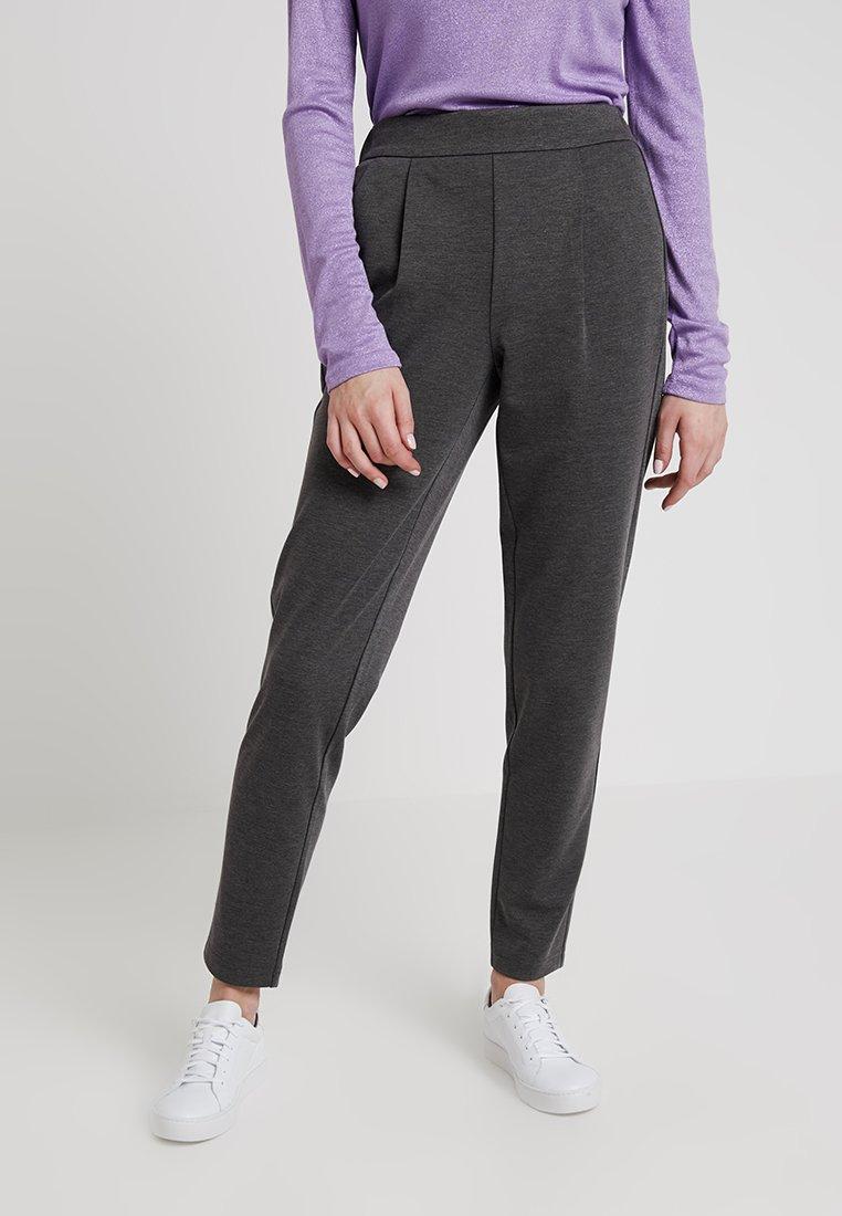 Vero Moda - VMANCHOR KELLY PANT - Trousers - dark grey melange