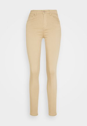 VMHOT SEVEN SLIM PUSH UP PANTS - Trousers - beige