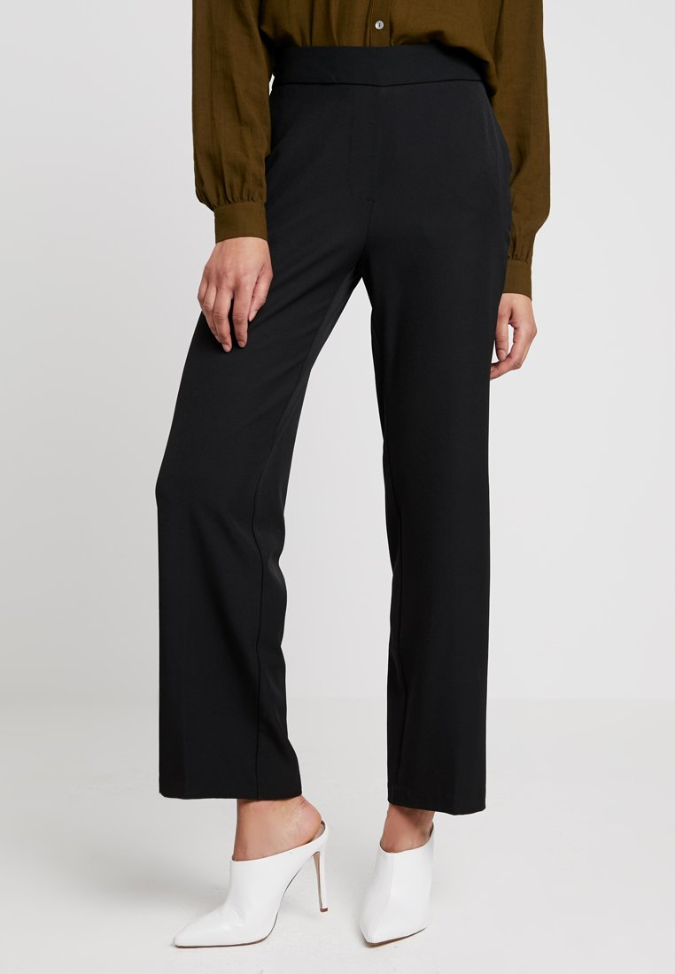 Vero Moda - VMGEMMA WIDE PANTS - Kalhoty - black