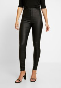Vero Moda - VMJOY COATED - Stoffhose - black - 0
