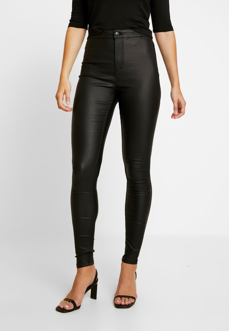 Vero Moda - VMJOY COATED - Stoffhose - black
