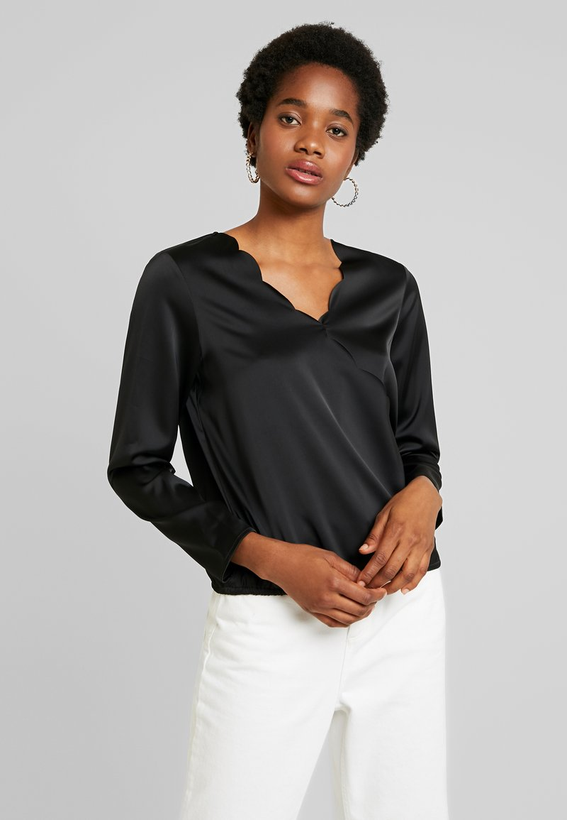 Vero Moda - VMIMPORTANT WRAP BLOUSE - Blus - black
