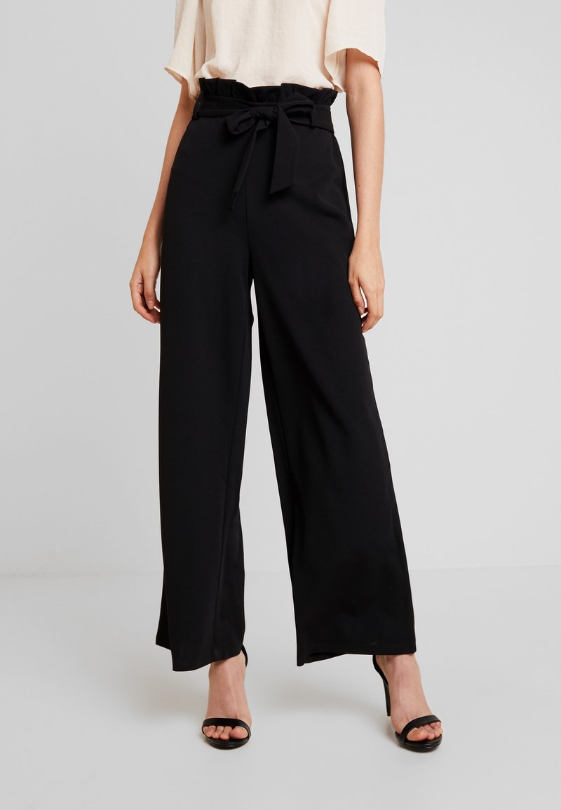 Vero Moda - VMMILLA LOOSE PAPERBAG PANT - Bukse - black