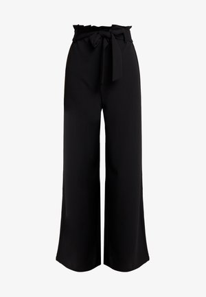 VMMILLA LOOSE PAPERBAG PANT - Trousers - black