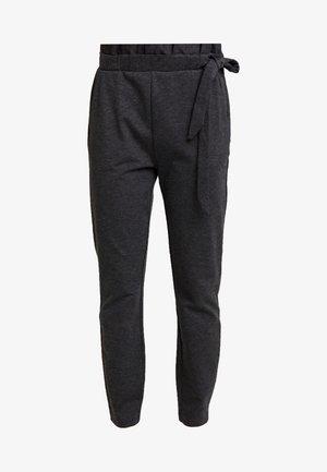 VMEVA LOOSE SIDE PAPERBAG PANT - Kalhoty - dark grey melange