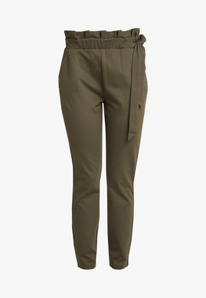 VMEVA LOOSE SIDE PAPERBAG PANT - Pantaloni - ivy green