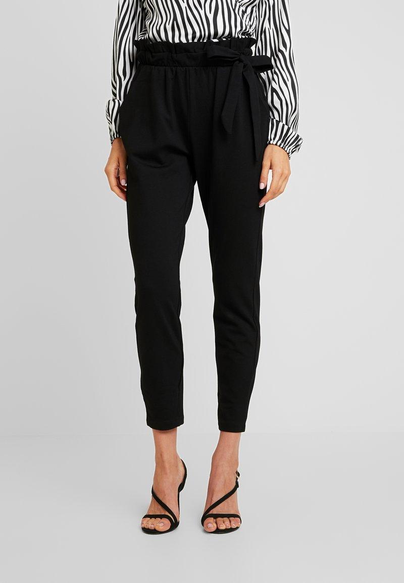 Vero Moda - VMEVA LOOSE SIDE PAPERBAG PANT - Bukse - black