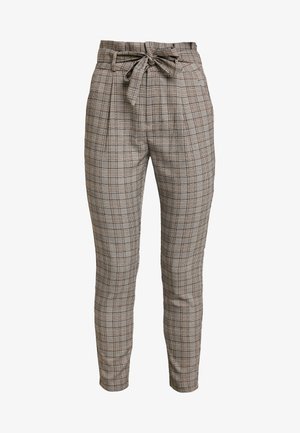 VMEVA LOOSE PAPERBAG CHECK - Kalhoty - grey/brown/rust