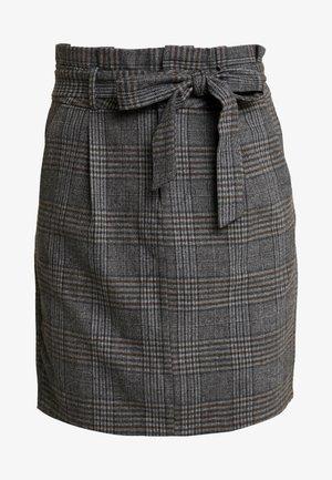 Bukse - dark grey melange/grey/brown