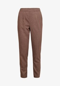 Vero Moda - VMJASMIN TAILORED CHECK PANT - Broek - madder brown - 4
