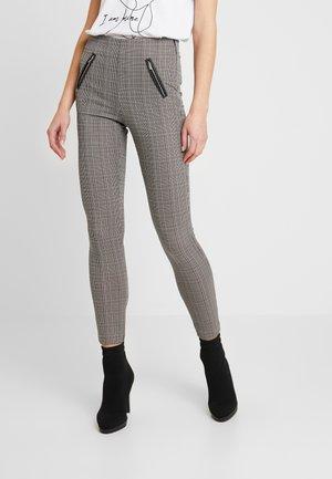 VMSALLY CHECK ZIP - Trousers - black