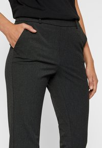 Vero Moda - VMMAYA MR LOOSE SOLID - Trousers - dark grey melange - 3