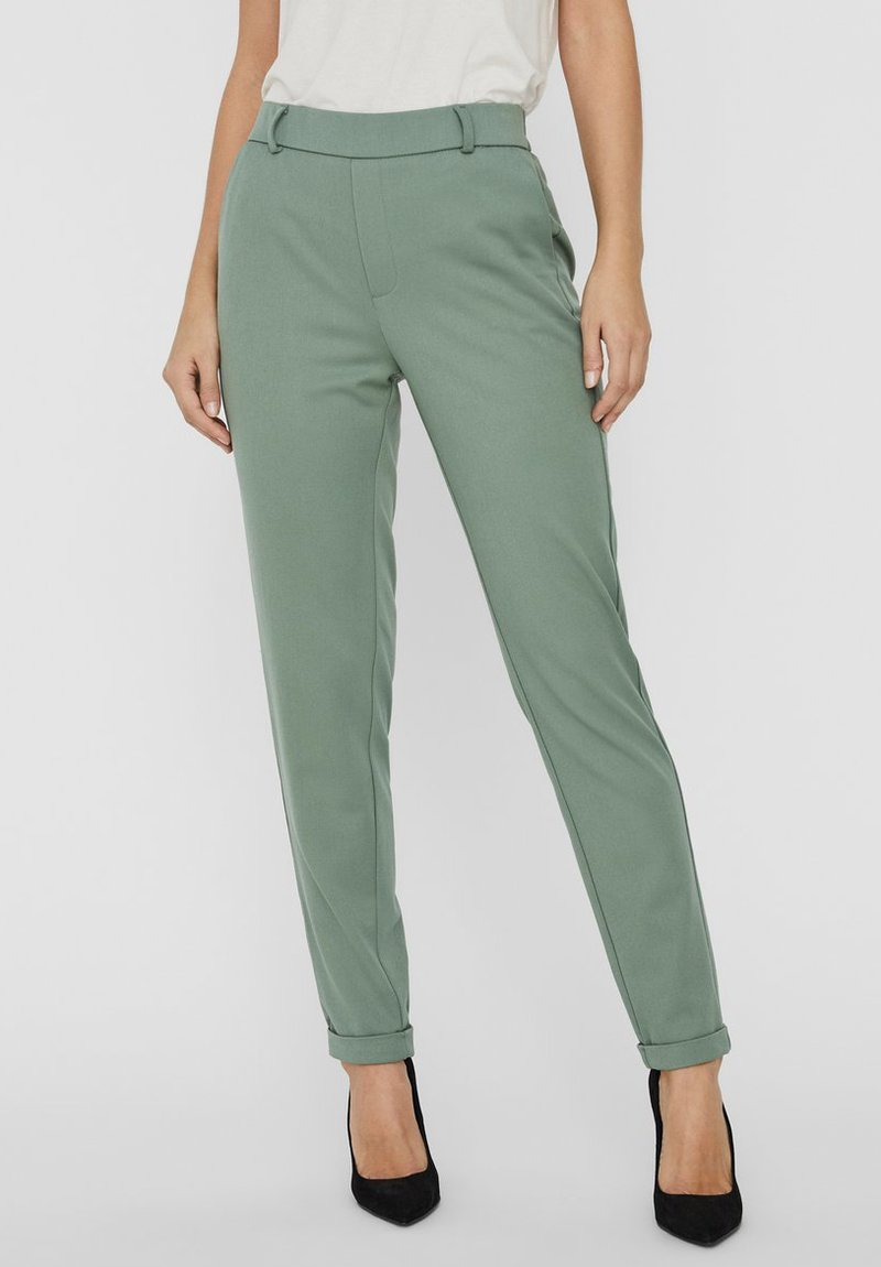 Vero Moda - VMMAYA MR LOOSE SOLID - Broek - laurel wreath