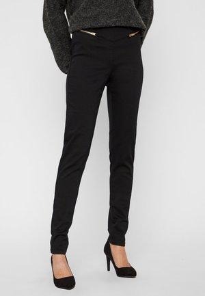 VMGELLER HIGH WAIST REISSVERSCHLUSS - Trousers - black