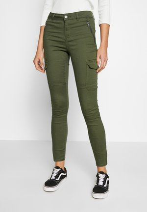 VMHOT SEVEN SLIM CARGO ANKLE - Cargo trousers - ivy green