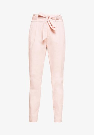 VMEVA LOOSE PAPERBAG COLOR - Trousers - sepia rose