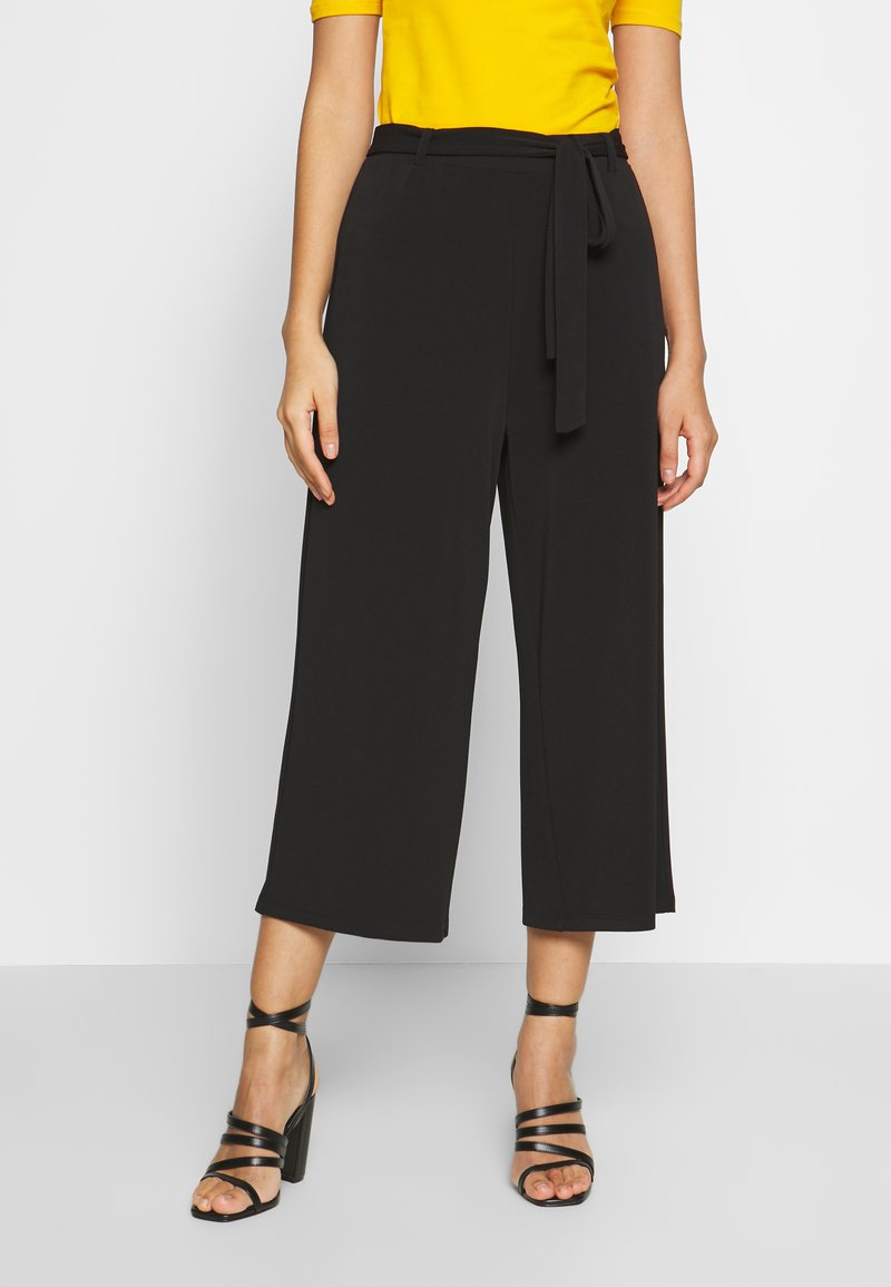 Vero Moda - VMMILLA LOOSE CULOTTE PANT - Bukse - black