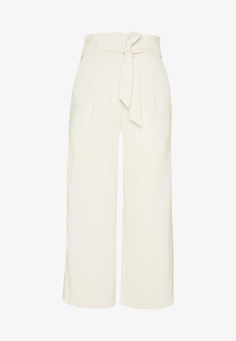 Vero Moda - VMEMILY CULOTTE PANT - Tygbyxor - birch