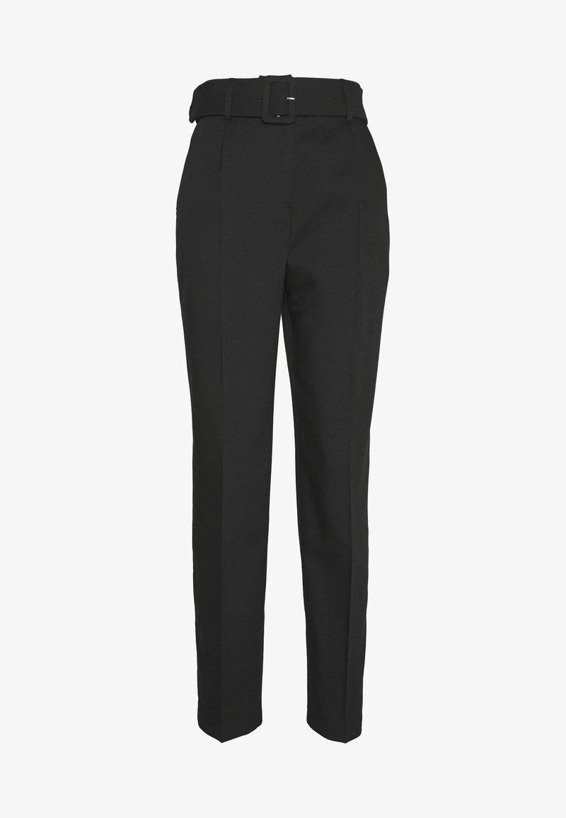 Vero Moda - VMKRISTA HW CIGARET ANKLE PANT - Spodnie materiałowe - black